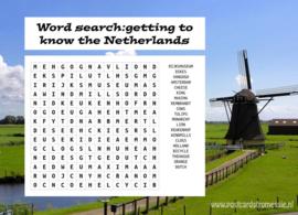Woordzoeker ansichtkaart Nederland