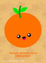 Sinaasappel ansichtkaart