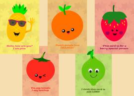 Kaartenset Fruit
