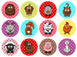 Polkadot animal stickers