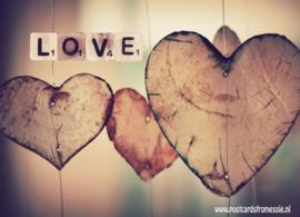 Ansichtkaart Love