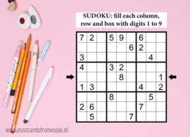 Sudoku ansichtkaart  3