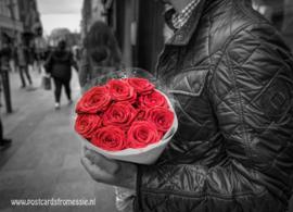 Bos rozen ansichtkaart