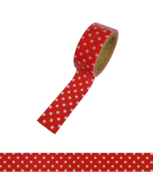 Polkadot washi tape red