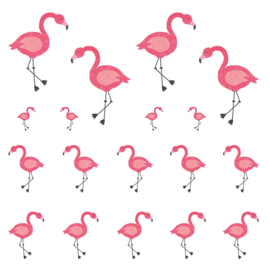 Stickervel Flamingo