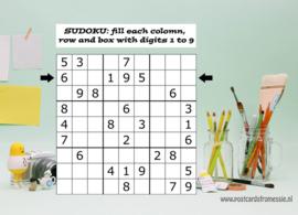 Sudoku ansichtkaart  1