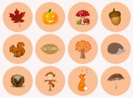 Stickervel Herfst