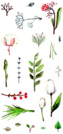 Flower and plant stickers 10