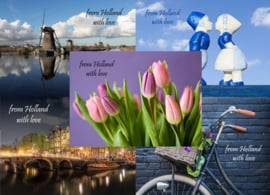 Postcard set From Holland with love