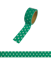 Polkadot washi tape green
