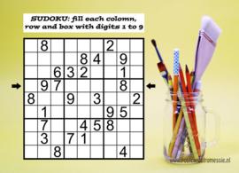 Sudoku ansichtkaart  2