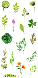 Flower and plant stickers 9