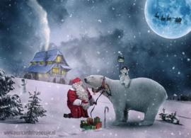 Kerstman met ijsbeer