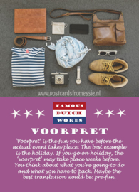 Famous Dutch Words - Voorpret