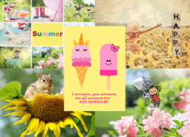 Postcard set Summer