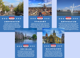 Postcard set Famous Dutch Cities