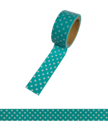 Polkadot washi tape blue