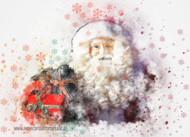 Kerstman ansichtkaart