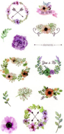 Flower and plant stickers 6