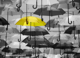Paraplu ansichtkaart