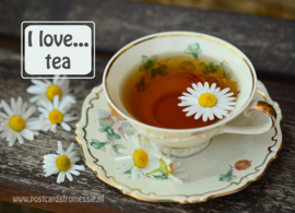 I love...tea ansichtkaart