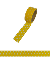 Polkadot washi tape yellow