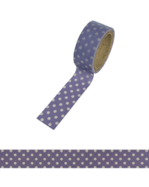 Polkadot washi tape purple