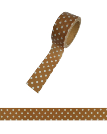 Polkadot washi tape brown