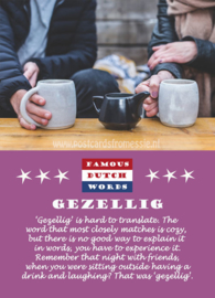 Famous Dutch Words - Gezellig