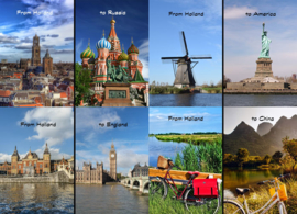 Postcard set From Holland to...1