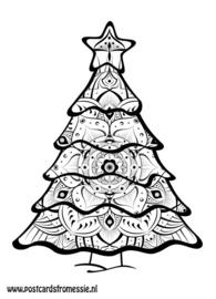 Kleuransichtkaart Kerstboom