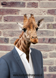 Giraffe in suit