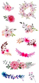 Flower and plant stickers 11