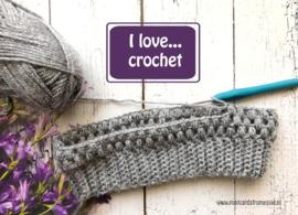 I love...crochet ansichtkaart