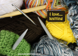 I love...knitting