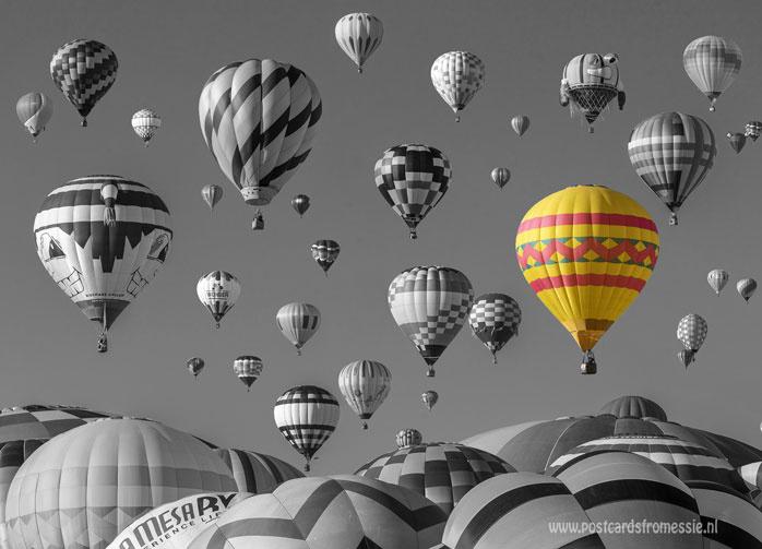 Luchtballon ansichtkaart