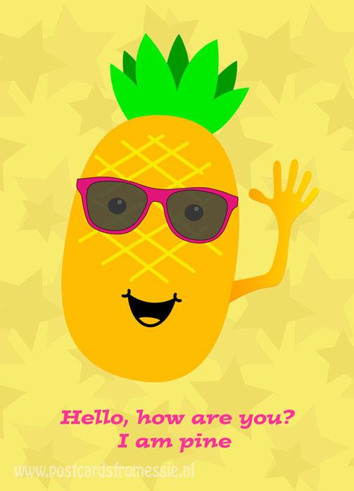 Ananas ansichtkaart