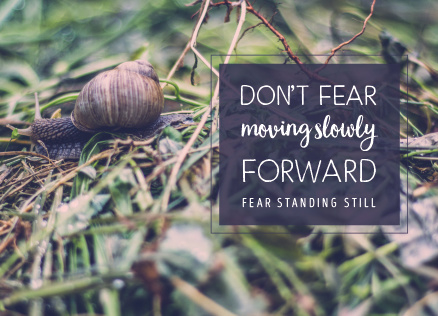 Cardcetera: Quotes - Don't fear moving slowly forward