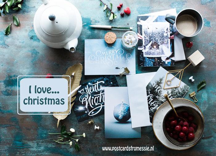 I love...christmas ansichtkaart