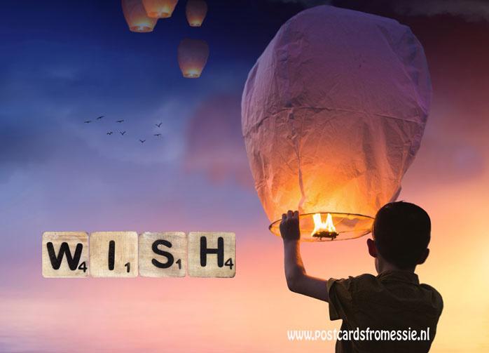 Ansichtkaart Wish