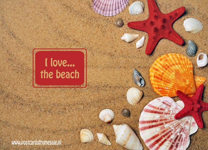 I love...the beach ansichtkaart