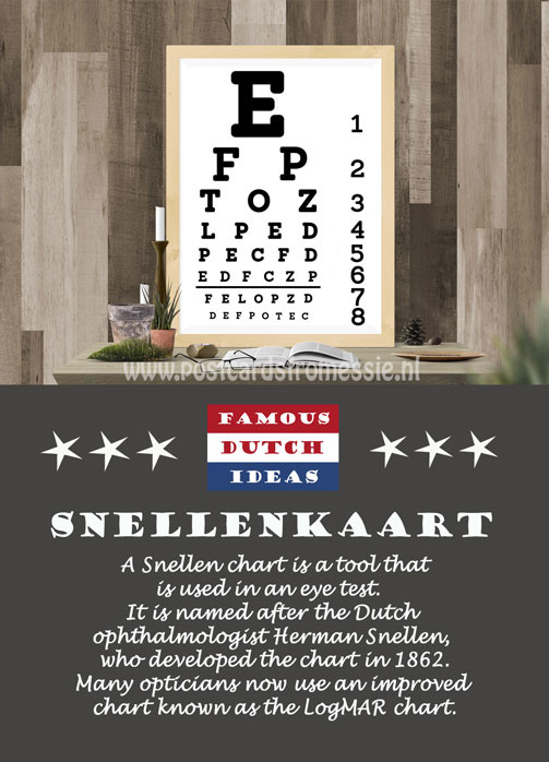 Famous Dutch Ideas - Snellenkaart