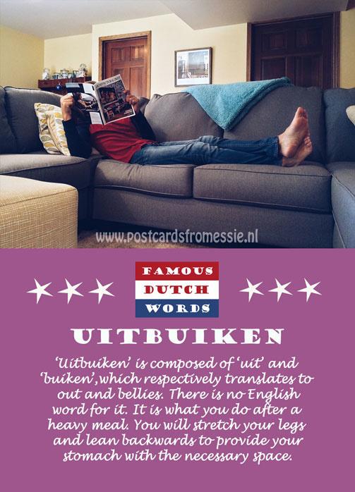 Famous Dutch Words - Uitbuiken