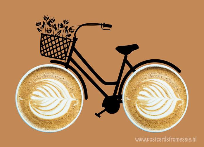 Koffiefiets ansichtkaart