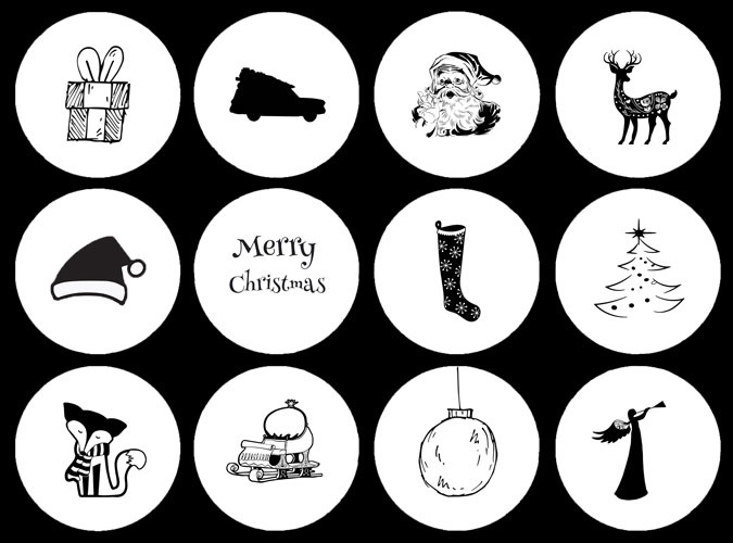 Stickervel Kerst