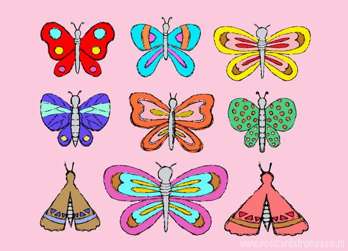 Vlinder doodles