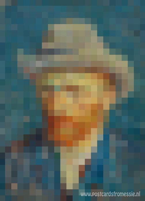Pixel art - Vincent van Gogh