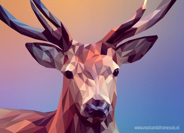 Polygoon ansichtkaart - Hert