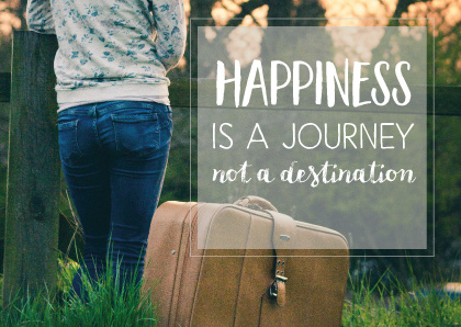 Cardcetera: Quotes - Happiness is a journey