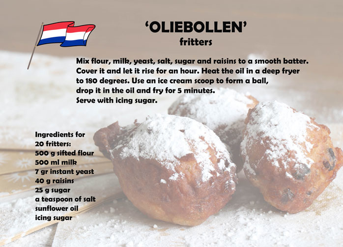 Recipe Postcard Oliebollen Typical Dutch Postcards Postcards From Essie